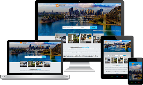 Accommodation Australia displayed beautifully on multiple devices