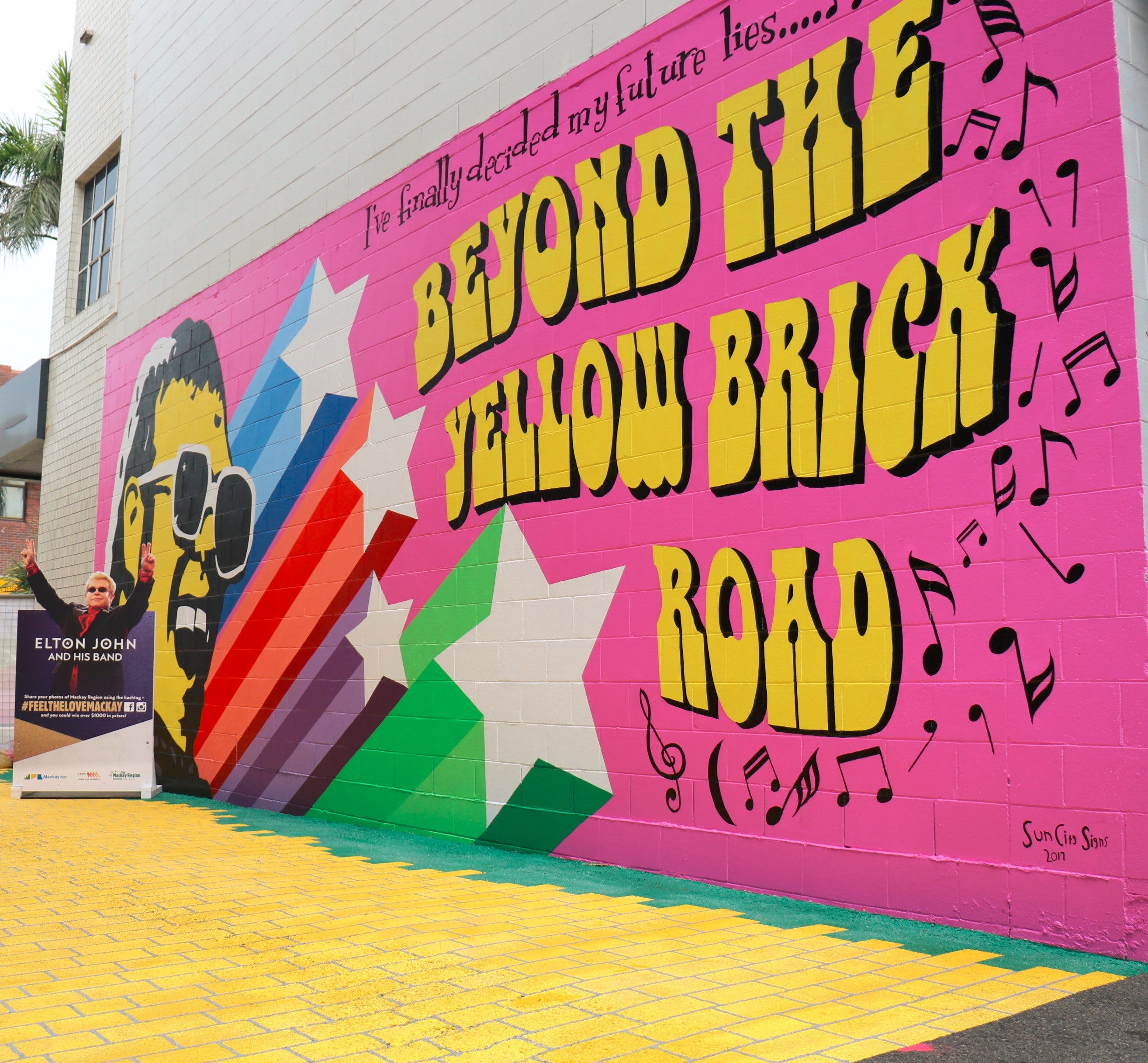Yellow Brick Road and Elton John Mural