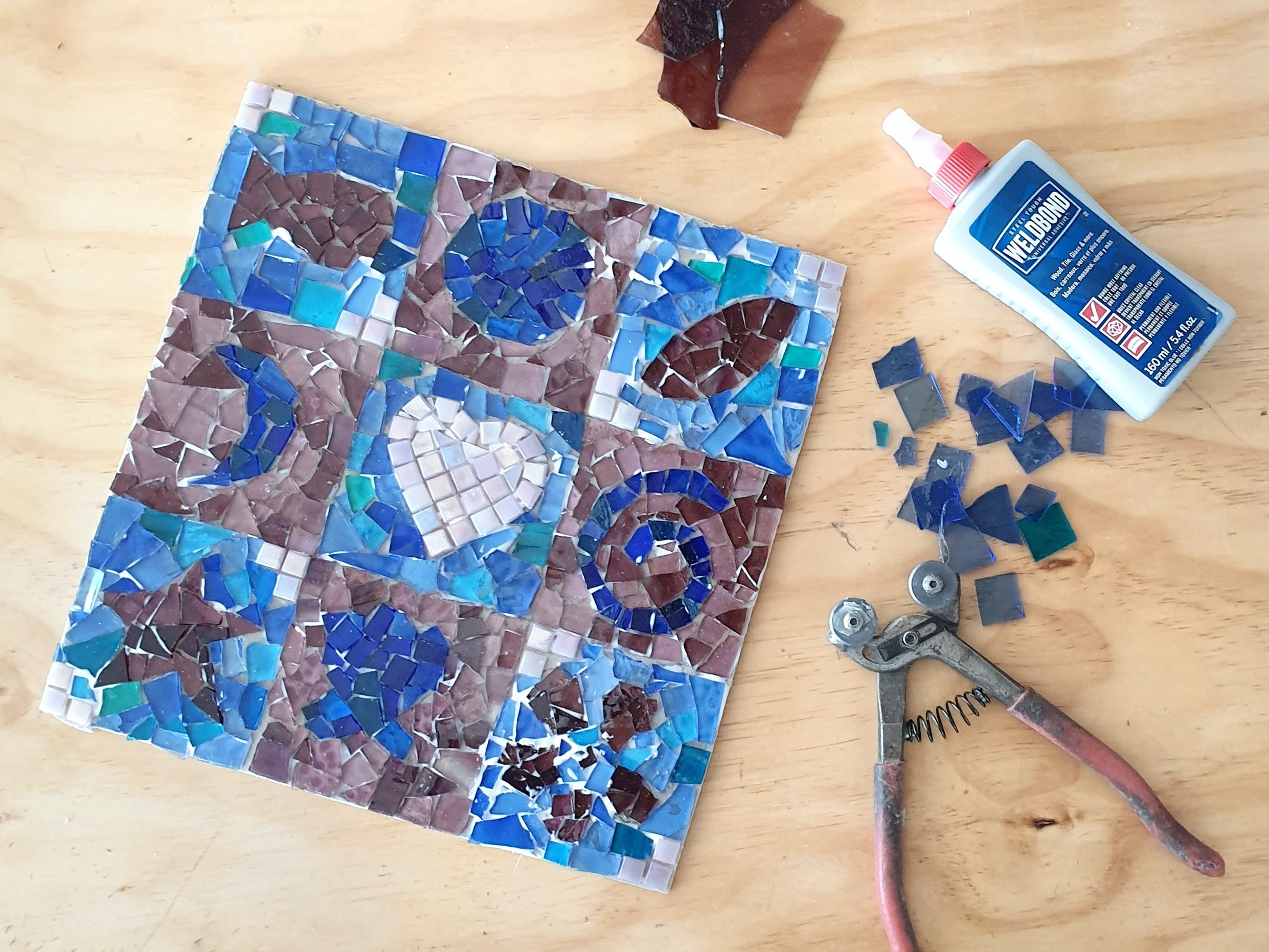 Intro to Mosaics Weekend with Leadlight By Ettore